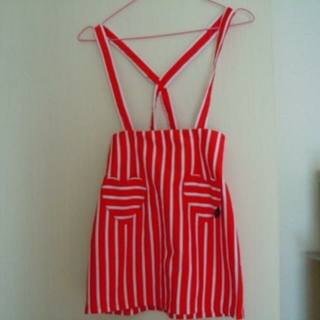 ジェニィ(JENNI)のJENNI LOVE サス付スカート(赤/白) サイズ130(スカート)
