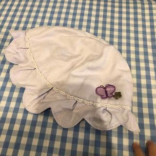 アナスイミニ(ANNA SUI mini)のアナスイミニ ベビー帽子 ANNA SUI MINI パープル(帽子)