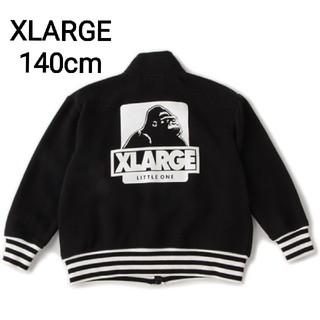 エクストララージ(XLARGE)の新品 エクストララージ 裏毛ジップスウェット 140cm 黒(ジャケット/上着)