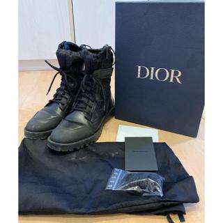 ディオール(Dior)のDior  19aw オブリーク柄 レースアップカーフスキンテクニカルブーツ(ブーツ)