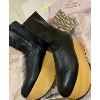 ヴィヴィアンウエストウッド(Vivienne Westwood)の新品 ロッキンホース  ブーツ キッドレザー UK7(ブーツ)