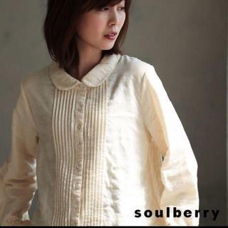 ソルベリー(Solberry)のsoulberry Wガーゼピンタックブラウス 生成り M (シャツ/ブラウス(長袖/七分))