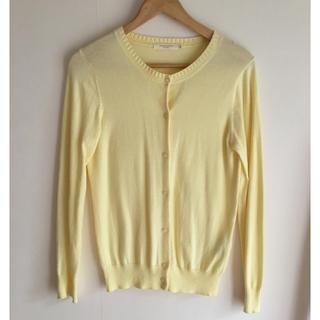 ショコラフィネローブ(chocol raffine robe)のchocol raffine レモン色カーディガン サイズM(カーディガン)