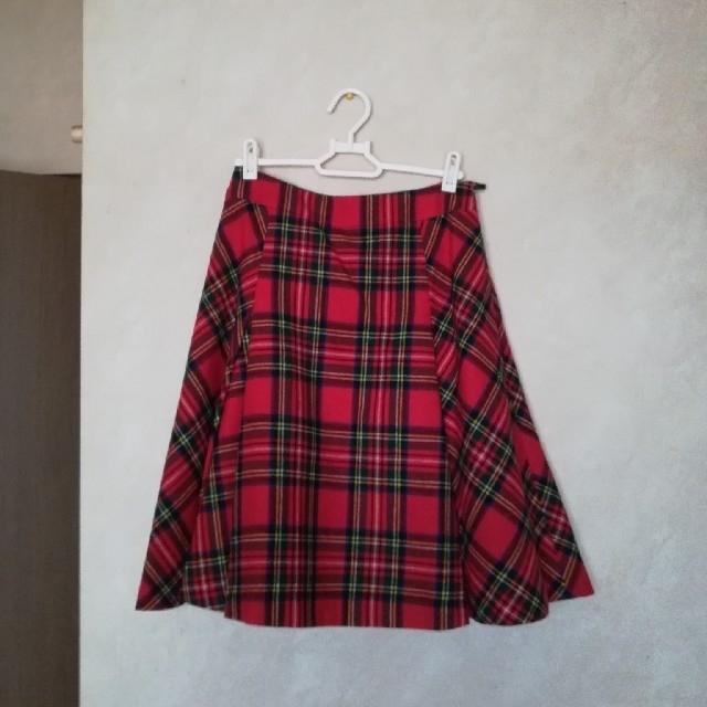 Yorkland(ヨークランド)のYorkLand Aラインタータンチェックスカート レディースのスカート(ひざ丈スカート)の商品写真