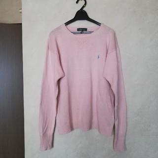 ラルフローレン(Ralph Lauren)のRalph Lauren 160 ホースマーク刺繍綿ニット(ニット/セーター)