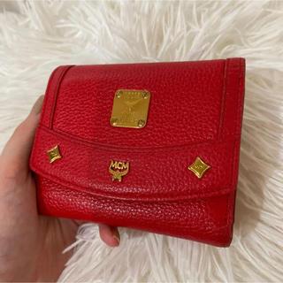 エムシーエム(MCM)のMCM エムシーエム 赤 財布 三つ折り財布(財布)