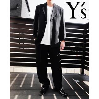 Y's - 【Y's】ワイズ スーツセットアップ ブラック ウールギャバジン メンズスーツ
