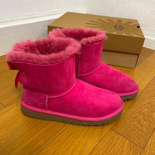 最終値下げ⭐️UGG ミニベイリーボウ ピンク サイズ21cm