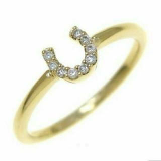 スタージュエリー(STAR JEWELRY)のスタージュエリー 馬蹄ホースシューリング ダイヤ(リング(指輪))