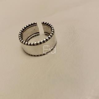 グリーンレーベルリラクシング(green label relaxing)のWide smokesilver grain ring No.252(リング(指輪))