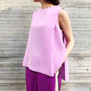 ルシェルブルー(LE CIEL BLEU)のlecielblue  side tuck bicolor Tops(カットソー(半袖/袖なし))