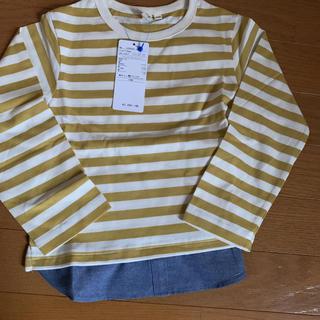 サマンサモスモス(SM2)の新品☆SM2 ボーイズ110センチ ボーダー カラシ色(Tシャツ/カットソー)