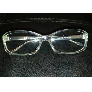 ダンヒル(Dunhill)のダンヒルDunhillメガネ眼鏡フレーム未使用新品透明濃紺(サングラス/メガネ)