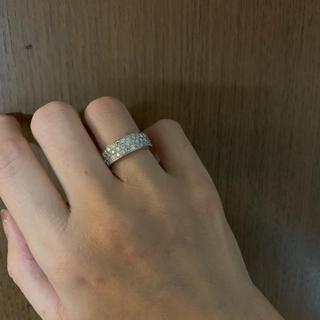 K18ホワイトゴールドパヴェリング(リング(指輪))