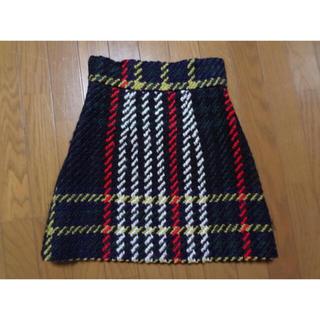 ミュウミュウ(miumiu)のmiumiu ミュウミュウ チェック 台形 スカート 18万 コレクションライン(ミニスカート)
