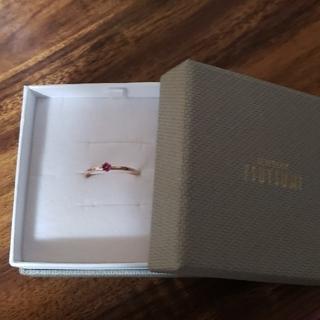 ジュエリーツツミ(JEWELRY TSUTSUMI)のK10ピンクゴールドリング(リング(指輪))