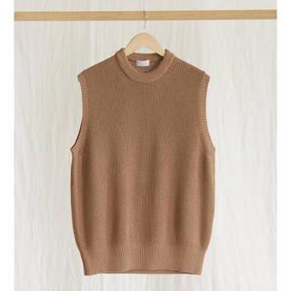 サンシー(SUNSEA)のPHLANNEL Washi Silk Crew Neck Knit Vest(ベスト)