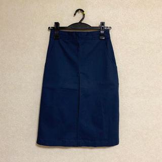 カプリシューレマージュ(CAPRICIEUX LE'MAGE)の新品未使用 CAPRICIEUX LE'MAGE 紺のタイトスカート(ひざ丈スカート)
