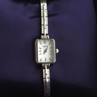 アガット(agete)のお取置き中☆agate アガット スクエア 腕時計 シルバー(腕時計)