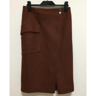 トゥモローランド(TOMORROWLAND)のトゥモローランド MACPHEE ウールジャージラップスカート(ひざ丈スカート)