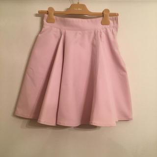 ミュウミュウ(miumiu)のmiumiu♡ ピンク色フレアスカート(ミニスカート)