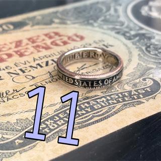 [ビビ様のルーム] アメリカ25セントコインリング 外国コイン 指輪(リング(指輪))