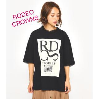 ロデオクラウンズ(RODEO CROWNS)の【新品】RODEO CROWNS ポイント レース Tシャツ(Tシャツ(半袖/袖なし))