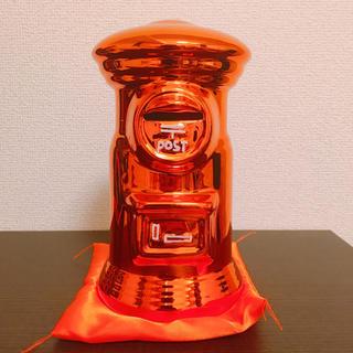 バンダイ(BANDAI)の郵便ポスト貯金箱 BIGサイズ 非売品 オレンジ(ノベルティグッズ)