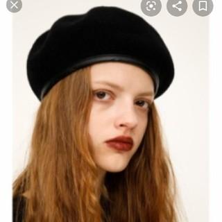 SLY - SLYスライ春夏ペーパーベレー帽ハットブラック黒BLKEVRISEMODA