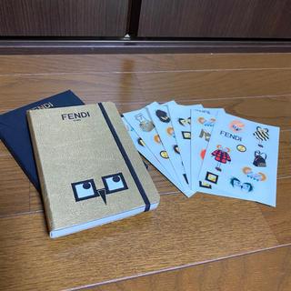 フェンディ(FENDI)のFENDI ノベルティ 手帳&シール 【新品】【正規品】(ノート/メモ帳/ふせん)