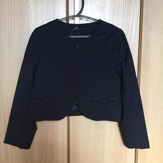 ジーユー(GU)のノーカラージャケット 130 紺 未使用品(ドレス/フォーマル)