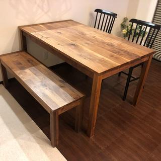 ムジルシリョウヒン(MUJI (無印良品))のダイニングテーブル 4点セット(ダイニングテーブル)