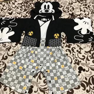 ディズニー(Disney)のYua0808様専用★袴 ロンパース  ミッキー(和服/着物)