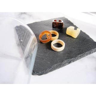 アメリヴィンテージ(Ameri VINTAGE)のoffwhite marble ring ☽(リング(指輪))