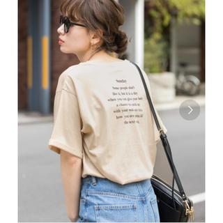 サニーレーベル(Sonny Label)のSonny Label*バックプリントルーズT-SHIRTS(Tシャツ(半袖/袖なし))
