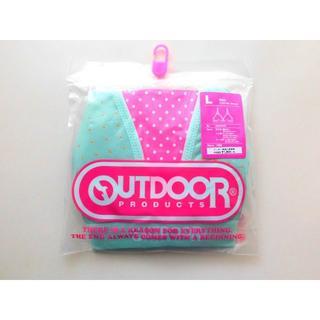 アウトドアプロダクツ(OUTDOOR PRODUCTS)の新品♥Outdoor ミントグリーン水玉模様 ブラジャー コットン綿混 L緑(ブラ)