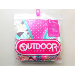 アウトドアプロダクツ(OUTDOOR PRODUCTS)の新品♥Outdoor ミントグリーン モザイク ブラジャー コットン綿混 L緑(ブラ)
