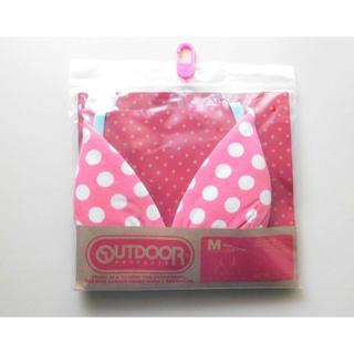 アウトドアプロダクツ(OUTDOOR PRODUCTS)の新品♥Outdoor ピンク水玉模様 ブラジャー コットン綿混 M ドット(ブラ)