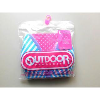 新品♥Outdoor ブルーストライプ ブラジャー コットン綿混 Lボーダー(ブラ)