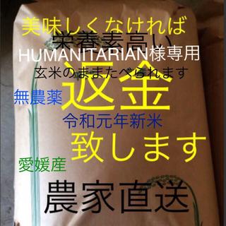 HUMANITARIAN 様専用 かずちゃん米無農薬特選こしひかり30㎏ 残り分(米/穀物)