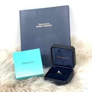 ティファニー(Tiffany & Co.)のティファニー ソリテール ダイヤリング Pt950 0.41ct(リング(指輪))