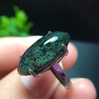 【天然】グリーンガーデンクォーツ リング 20.2*8.5mm s925(リング(指輪))