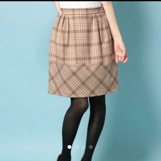 デビュードフィオレ(Debut de Fiore)のデビュードフィオレ ウール チェック スカート(ひざ丈スカート)