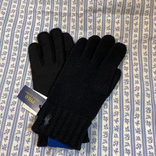ポロラルフローレン(POLO RALPH LAUREN)のラルフローレン 手袋 メンズ ポロ ブラック (手袋)