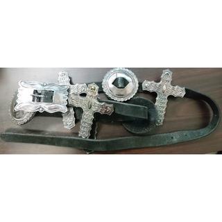ルグランブルー(LGB)のLGB hyde愛用 コンチョベルト ifsixwasnine クロス レザー(ベルト)