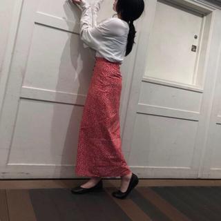 花柄ロングスカート(ロングスカート)