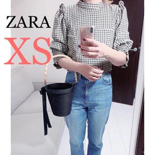 ザラ(ZARA)の新品!ZARA ギンガムチェックトップス(シャツ/ブラウス(長袖/七分))