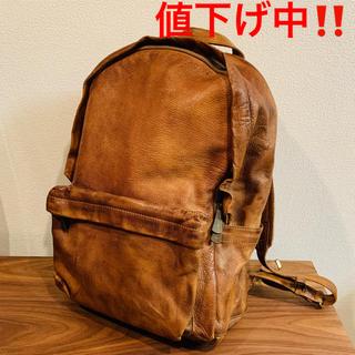 ゲンテン(genten)の【値下げ中!】dan genten レザーバックパック ブラウン(茶)(バッグパック/リュック)