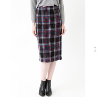 ティティベイト(titivate)のtitivateツイードチェック スカート(ひざ丈スカート)