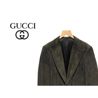 グッチ(Gucci)のGUCCI スウェード テーラード ジャケット / グッチ レザー トムフォード(レザージャケット)